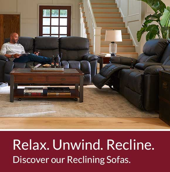 Relax. Unwind. Recline. Discover our Reclining Sofas.