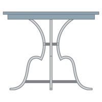 Table size and height icon