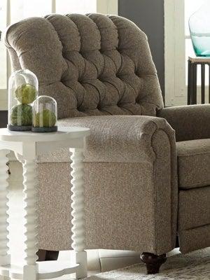 Closeup of Whitman Low Leg Reclining Chair