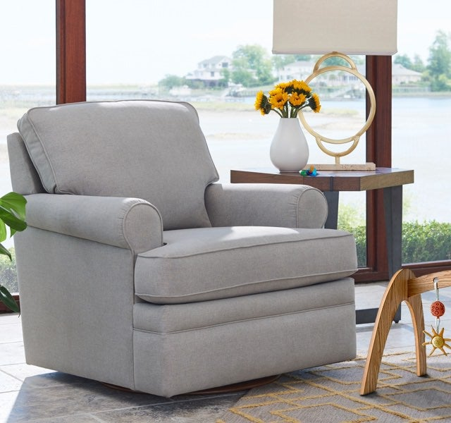 Room scene with Roxie Swivel Gliding Chair