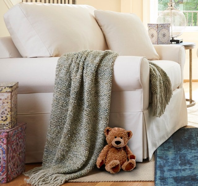 Beacon Hill chair & a half with teddy bear