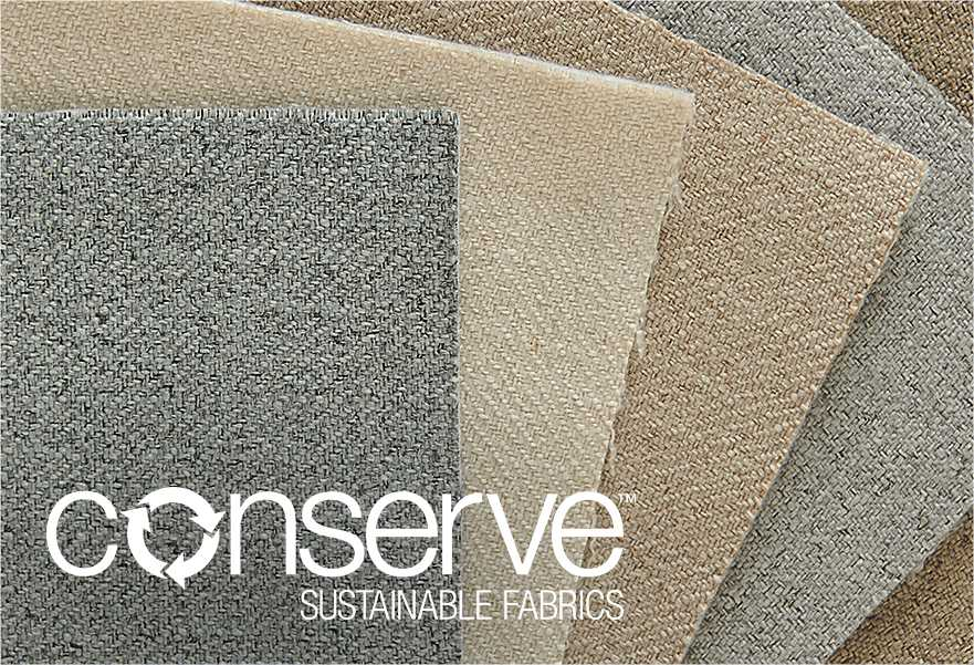 Overlapping swatches of conserve Sustainable Fabrics