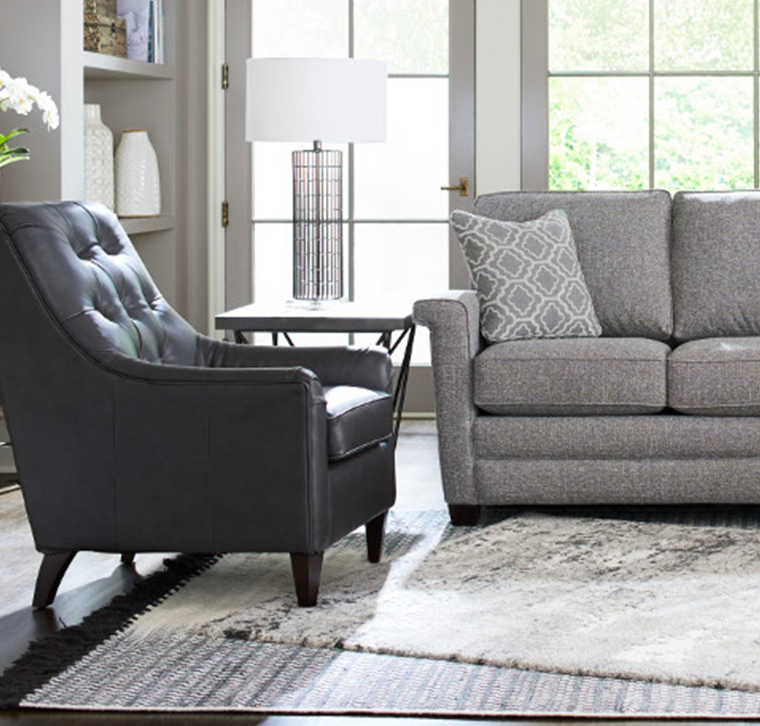 Living Room with Marietta Chair and McKinney Sofa