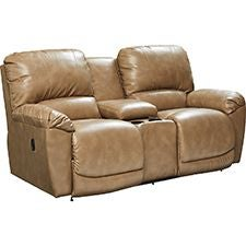 Tyler La-Z-Time Full Reclining Loveseat with Console