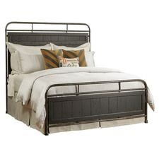 Mill House Folsom Queen Metal Bed - Complete - Anvil Finish
