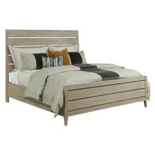 Symmetry Incline Oak Queen Bed High Footboard