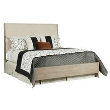 Symmetry Incline Queen Fabric Bed W/ Medium Footboard