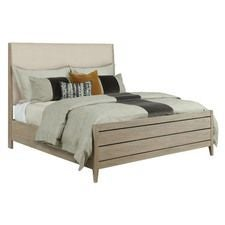 Symmetry Incline Queen Fabric Bed High Footboard