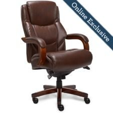 Delano Big & Tall Executive Office Chair, Chestnut Marrón
