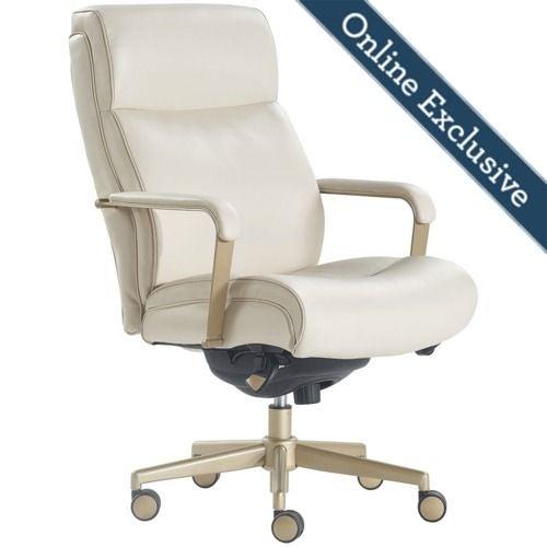 Melrose Executive Office Chair Cream La Z Boy