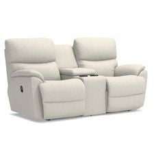 Trouper La-Z-Time® Full Reclining Loveseat w/ Console
