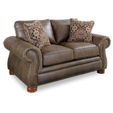Pembroke Premier Loveseat w/ Brass Nail Head Trim