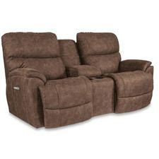 Trouper PowerRecline La-Z-Time® Full Reclining Loveseat w/ Console