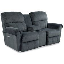Briggs La-Z-Time® Power-Recline™ With Power Headrest Loveseat W/ Console