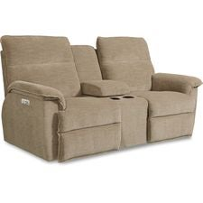 Jay La-Z-Time® Power Recline™ with Power Headrest Full Reclining Loveseat w/ Console