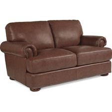 Andrew Loveseat w/ Brass Nail Head Trim
