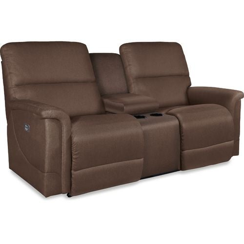 Oscar La Z Time Powerrecline With Power Headrest Full Reclining Loveseat W Middle Console