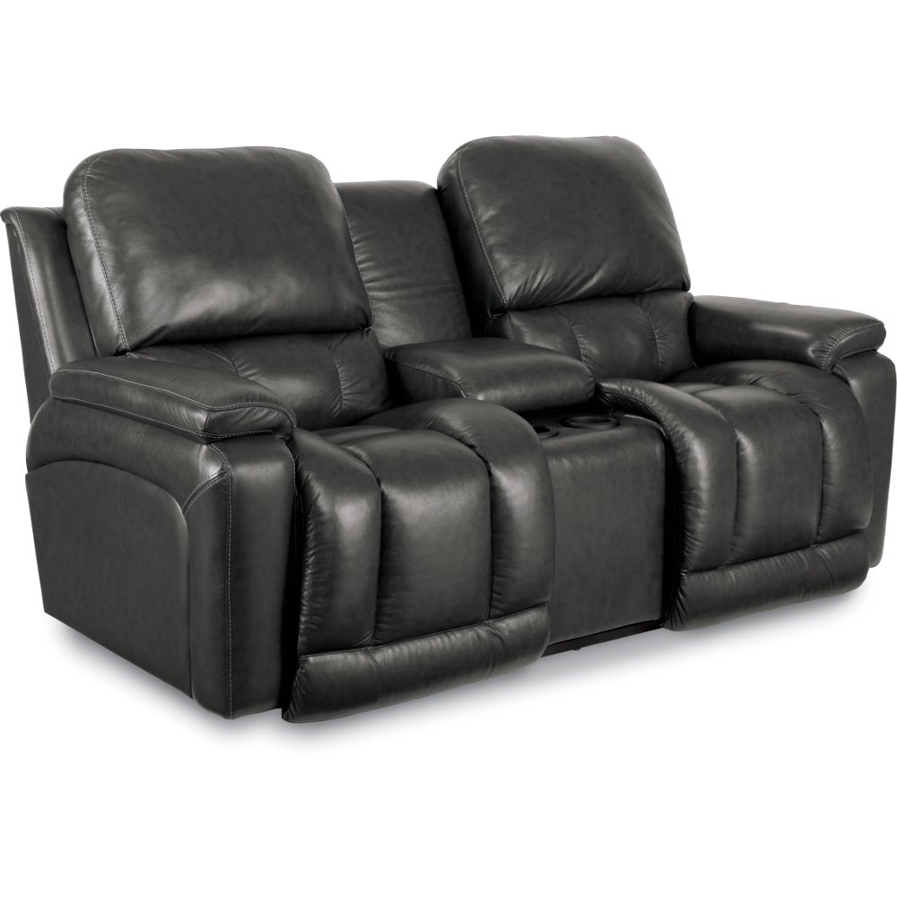Greyson La Z Time Full Reclining Loveseat W Console