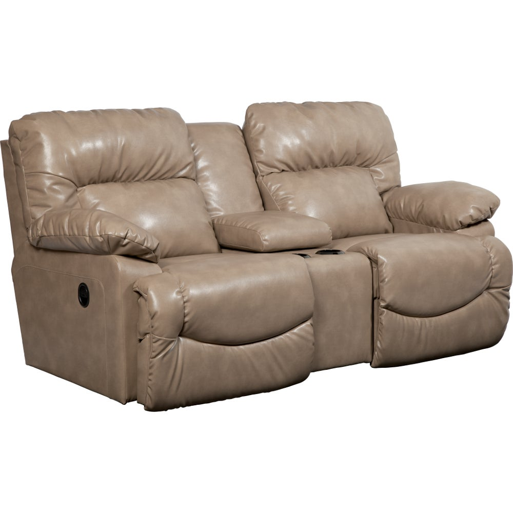 Asher La Z Time Full Reclining Loveseat W Console