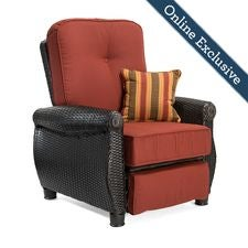 Breckenridge Patio Recliner w/ Brick Red Cushion