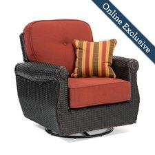 Breckenridge Swivel Rocker w/ Brick Red Cushion