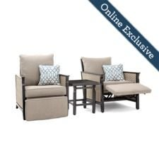 Colton 3pc Recliner Seating (2 Recliners and a side table)