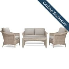 Laurel 4pc Loveseat Seating (2 Lounge Chairs, 1 Loveseat, 1 Coffee Table) -