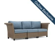 Nolin 3pc Sectional w/ Bleu Cushion
