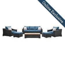 New Boston 6 Piece Wicker Patio Set
