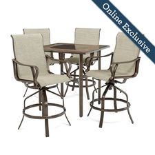 Rochester Sling 5pc Bar Height High-Dining Patio