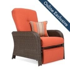 Sawyer Recliner w/ Grenadine Orange Cushion