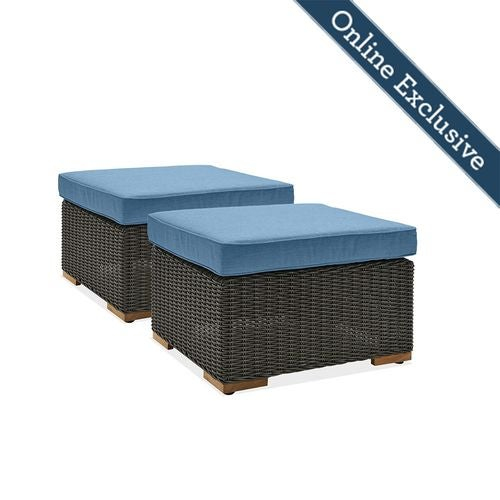 New Boston Outdoor Patio Ottomans La