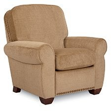 Emerson Low Profile Recliner w/ Brass Nail Head Trim