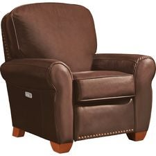 Emerson Low Profile Power Recliner w/ Brass Nail Head Trim