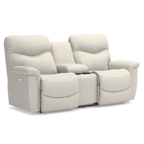 Incredible James Power Reclining Loveseat W Console Ocoug Best Dining Table And Chair Ideas Images Ocougorg