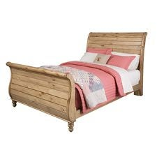 Homecoming Pine Sleigh Queen Bed - Complete