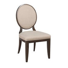 Grantham Hall Uph Side Chair W/Decorative Back