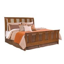 Cherry Park Sleigh Queen Bed - Complete