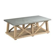 Junction Truss Cocktail Table Panel Bed Footboard w/ Slat Pack