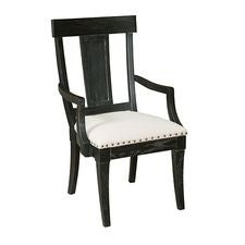 Stone Ridge Arm Black Chair