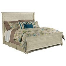 Weatherford Cornsilk Shelter Queen Bed - Complete