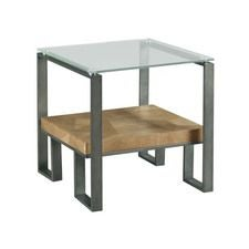 Abstract Rectangular End Table