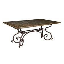 72IN RECT DINING TABLE W/METAL BASE-BLACK FOREST