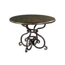 Artisans Shoppe 44IN Round Dining Table W/ Metal Base - Noir Forest