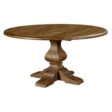 60IN ROUND DINING TABLE W/WOOD BASE-BLACK FOREST