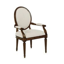 Artisans Shoppe Oval Back Arm Chair Tobacco
