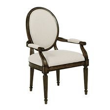 Artisans Shoppe Oval Back Arm Chair Negro Forest