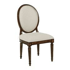 OVAL BACK SIDE CHAIR TOBACCO