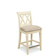 Camden Buttermilk Splat Back Uph. Counter Height Barstool
