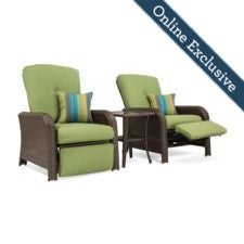 Sawyer Patio Recliner Set, Cilantro Green